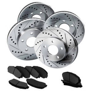 DRILLED AND SLOTTED ROTORS KIT