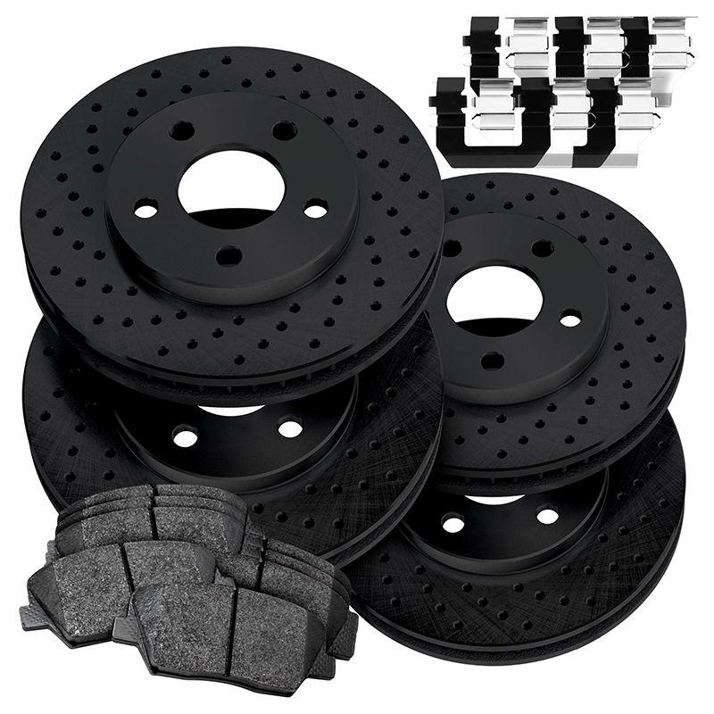 Fit 2015-2019 Kia Sorento PowerSport Full Kit Brake Rotors+Ceramic Brake Pads