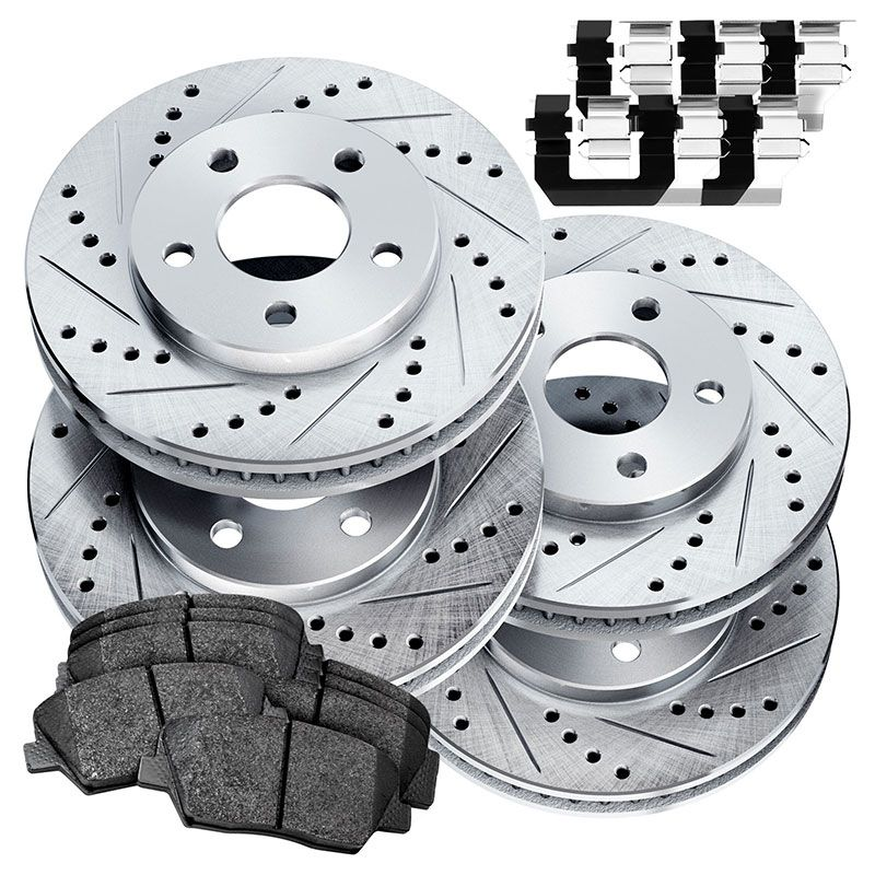 Rear Premium Brake Rotors /& Ceramic Pads for 2013-2015 BMW X1 2.0L Front