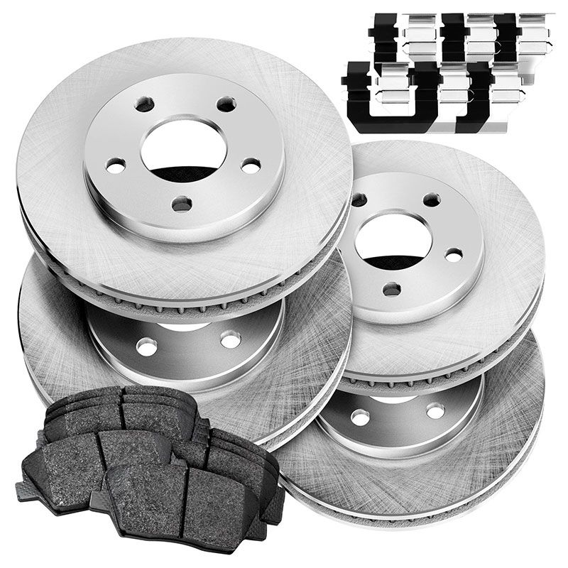 Fits 1996-1997 Mercedes-Benz E320 Front Blank Brake Rotors+Ceramic Pads