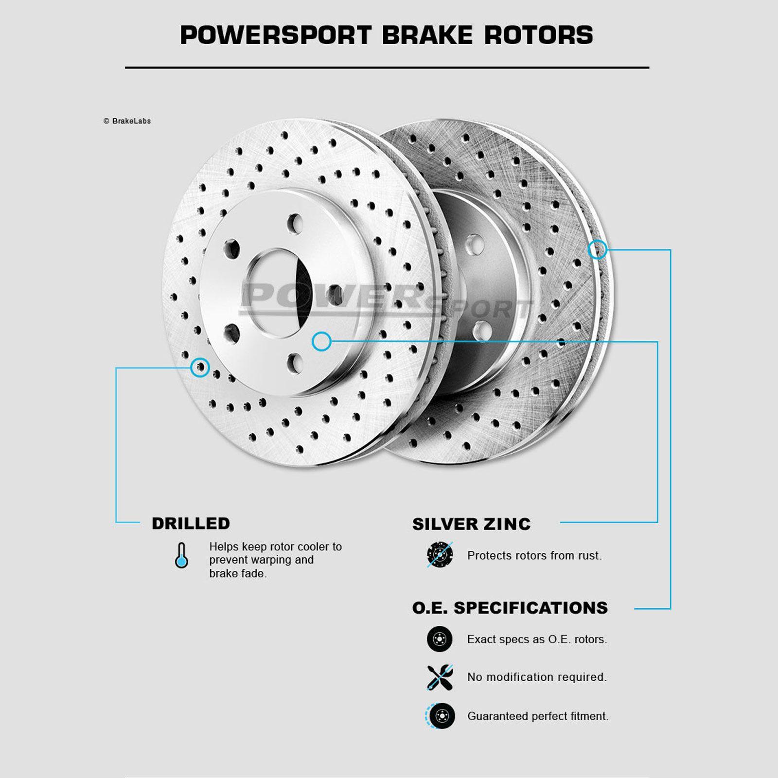 Fit 1993-1997 Lexus GS300 Front Rear PSport Drill Slot Brake Rotors+Ceramic Pads