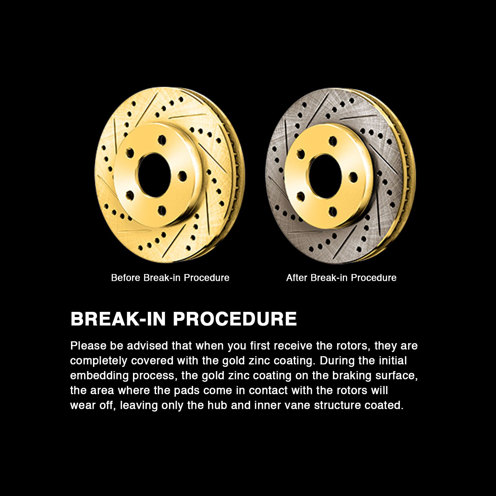 FRONTIER 1998-2004 4 Cylinder Brake Rotors FRONT POWERSPORT GOLD DRILL//SLOT