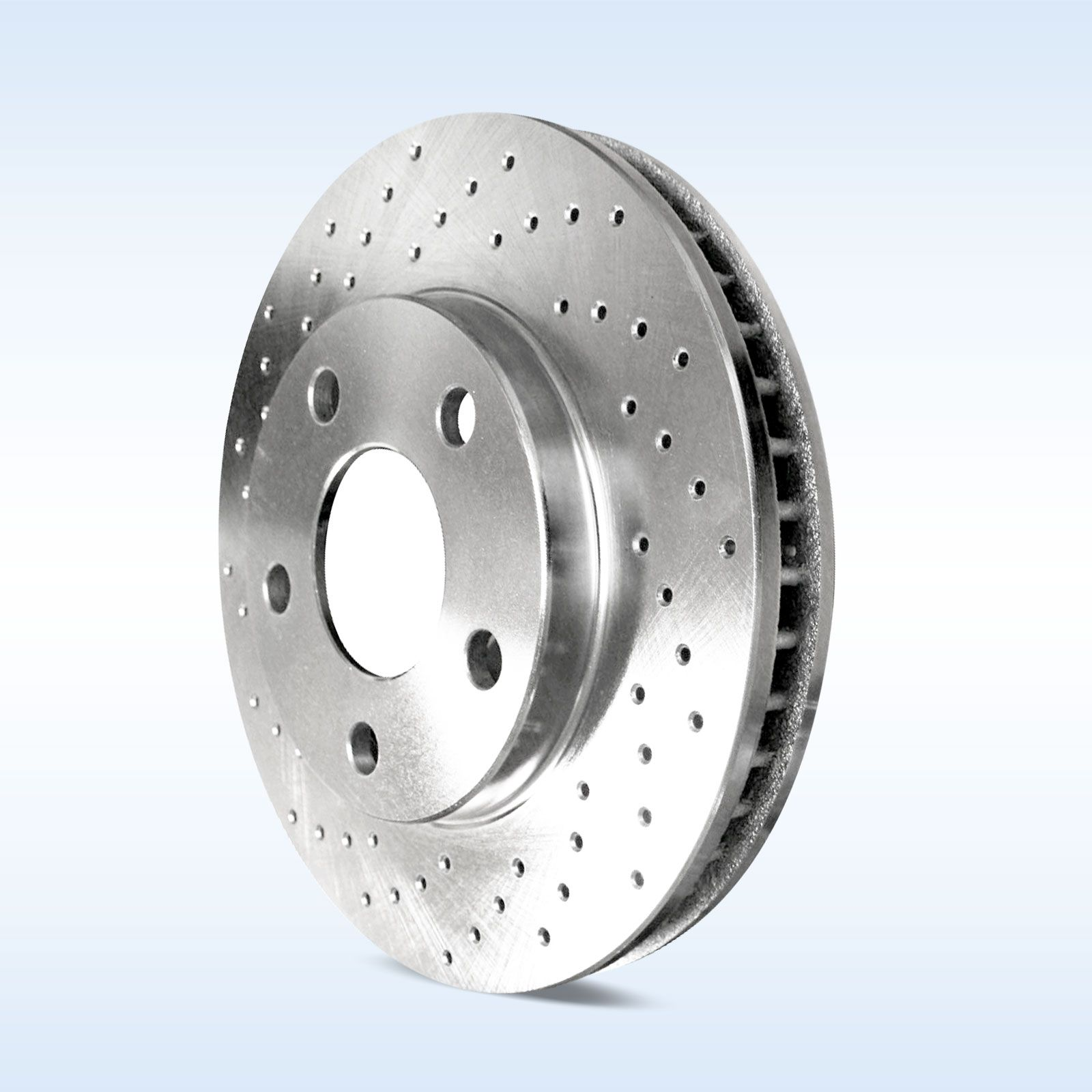 Brake rotors front rear kit powersport drilled only