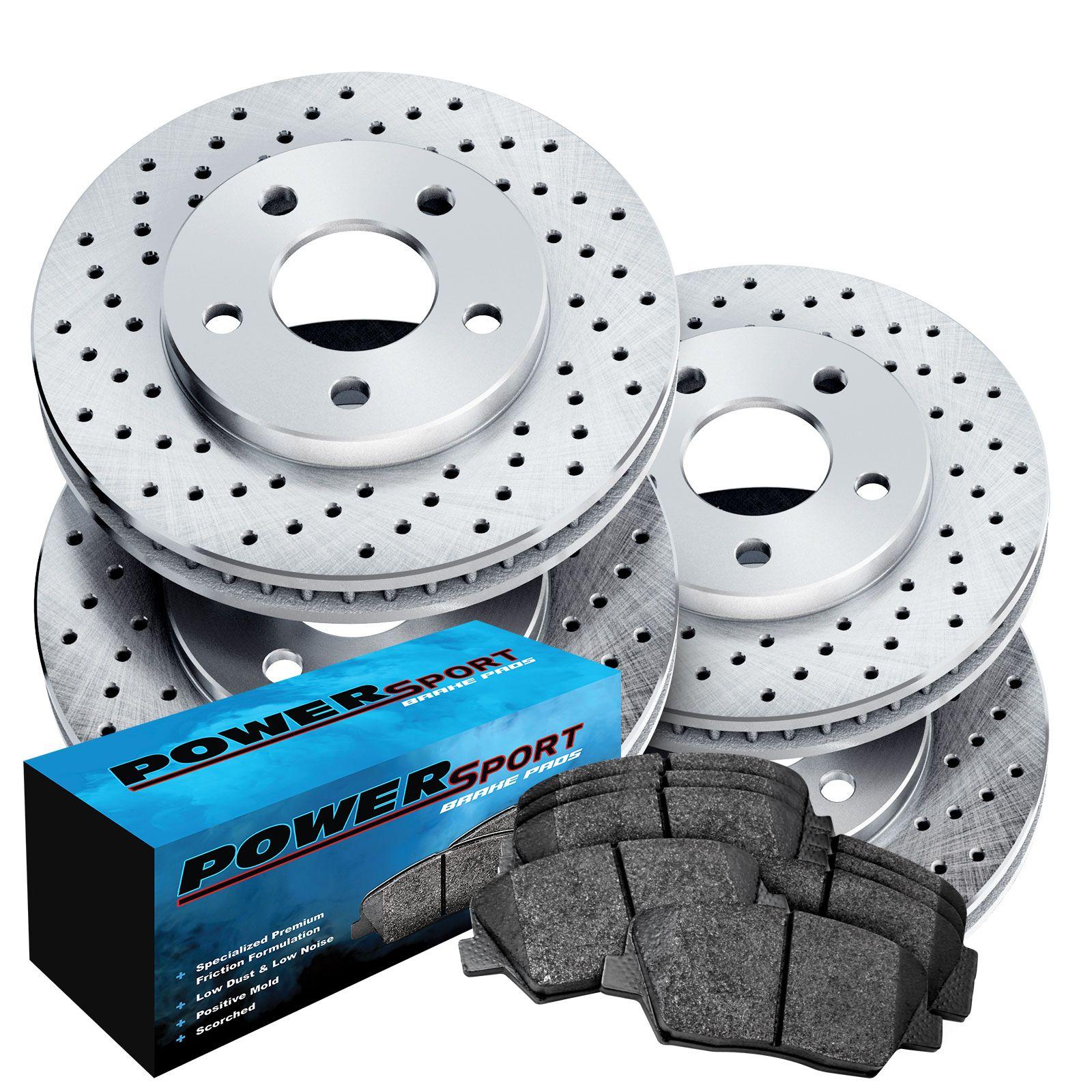 Rear Brake Disc Rotors And Ceramic Pads For 2002 2003 2004 JAGUAR X TYPE