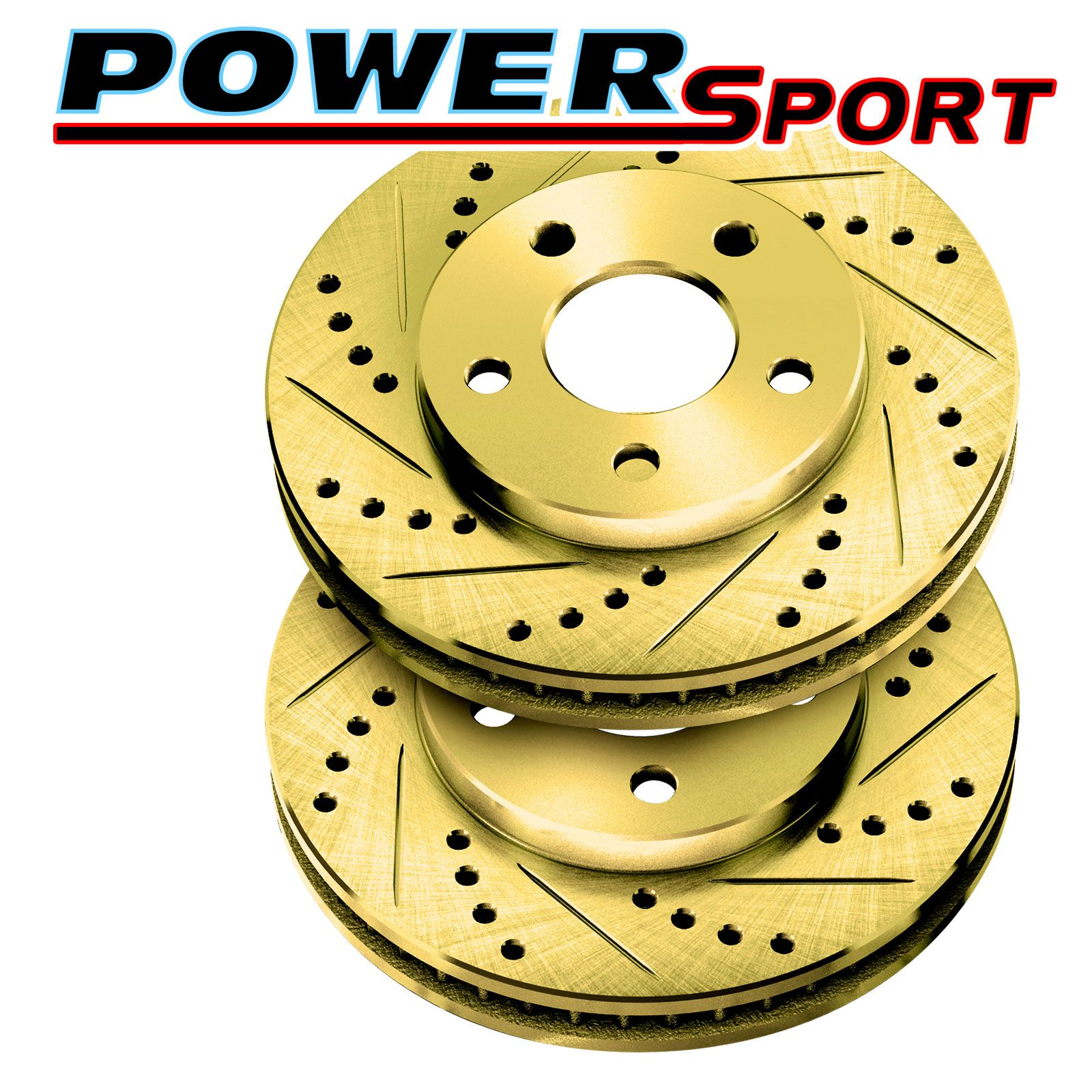 Fit 1990 Porsche 944 Front Rear PowerSport Drilled Brake Rotors