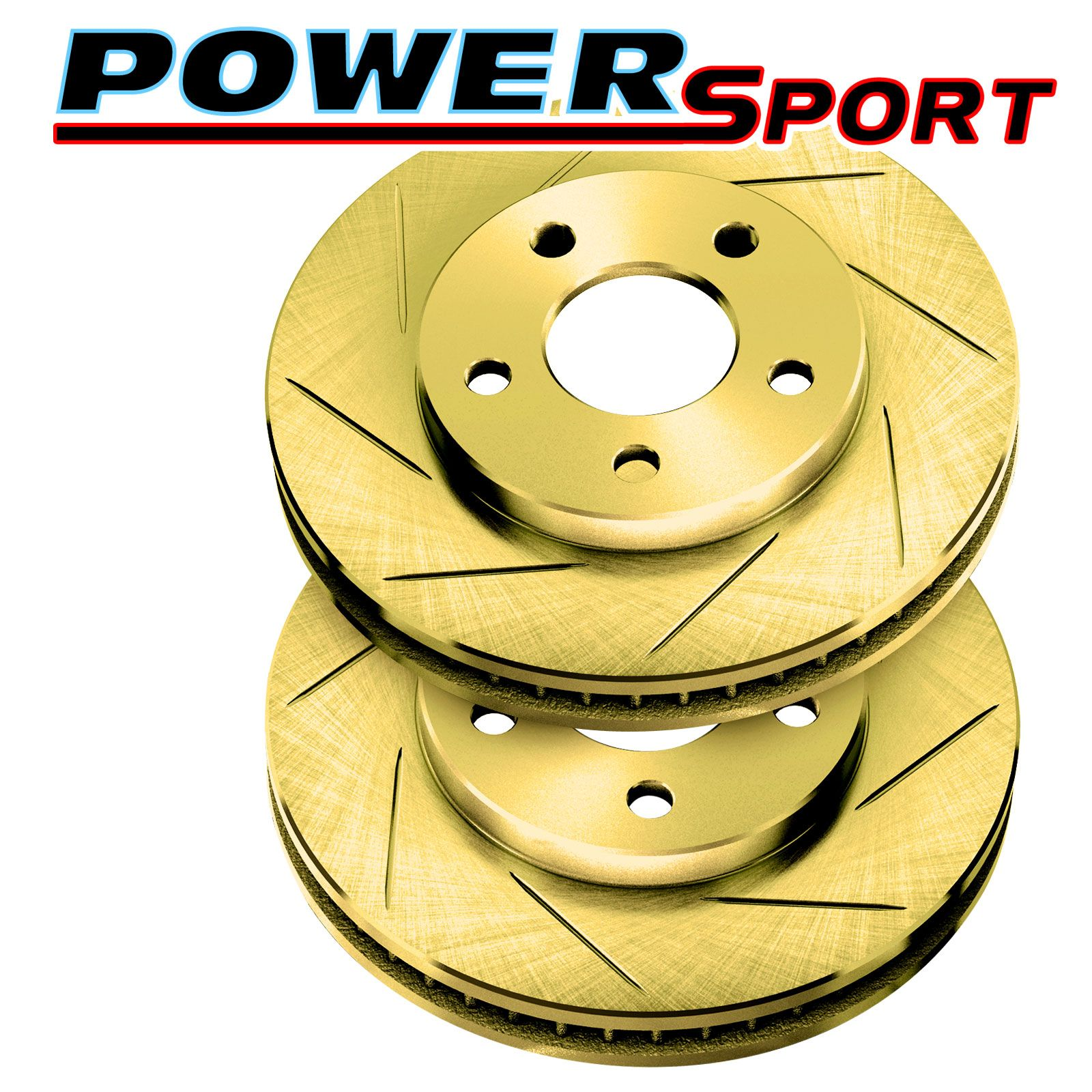 Brake Rotors [2 Rear] POWERSPORT GOLD *SLOTTED ONLY* DISC BE05846
