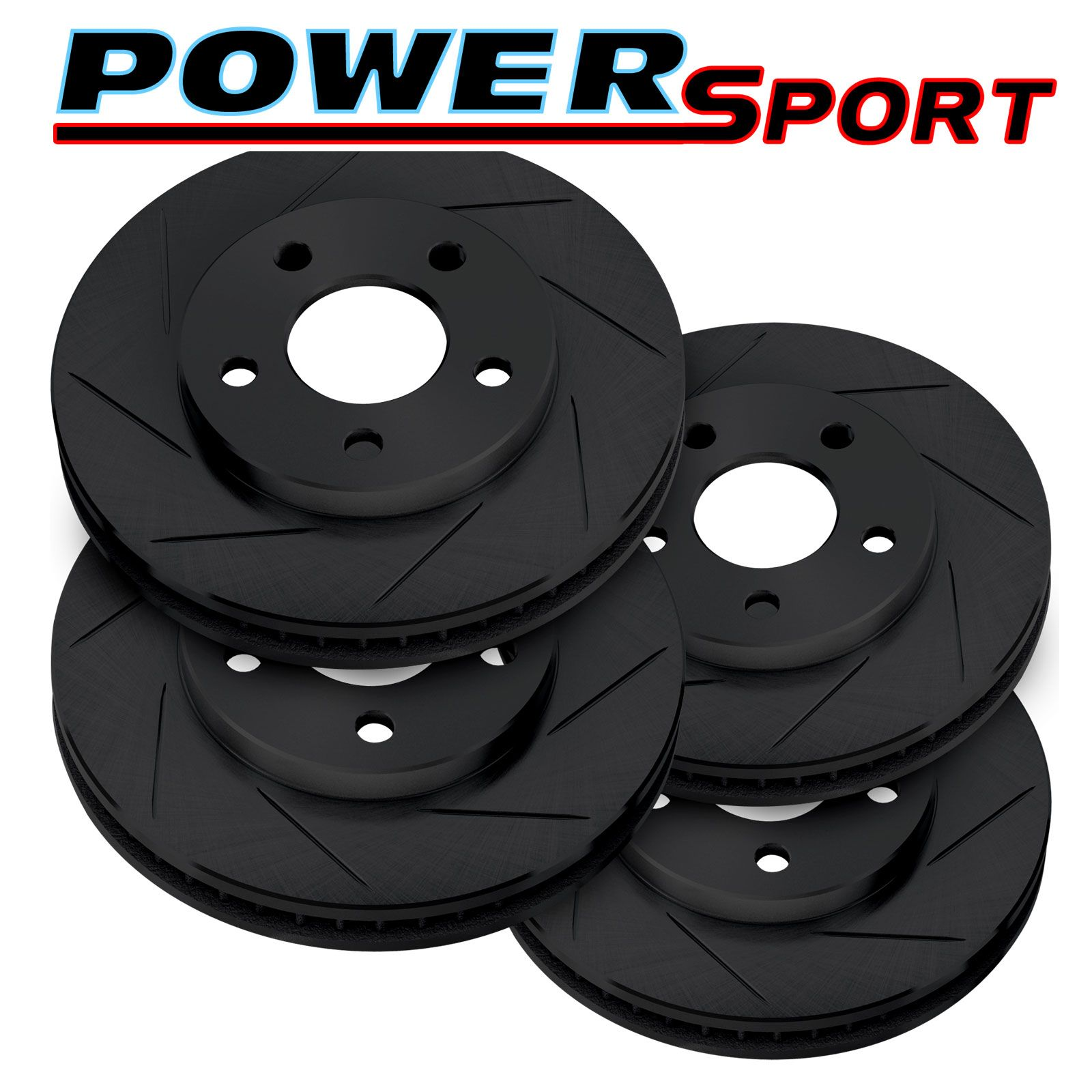 BMW 330i FRONT Brake Rotors POWERSPORT DRILLED SLOTTED /& PADS