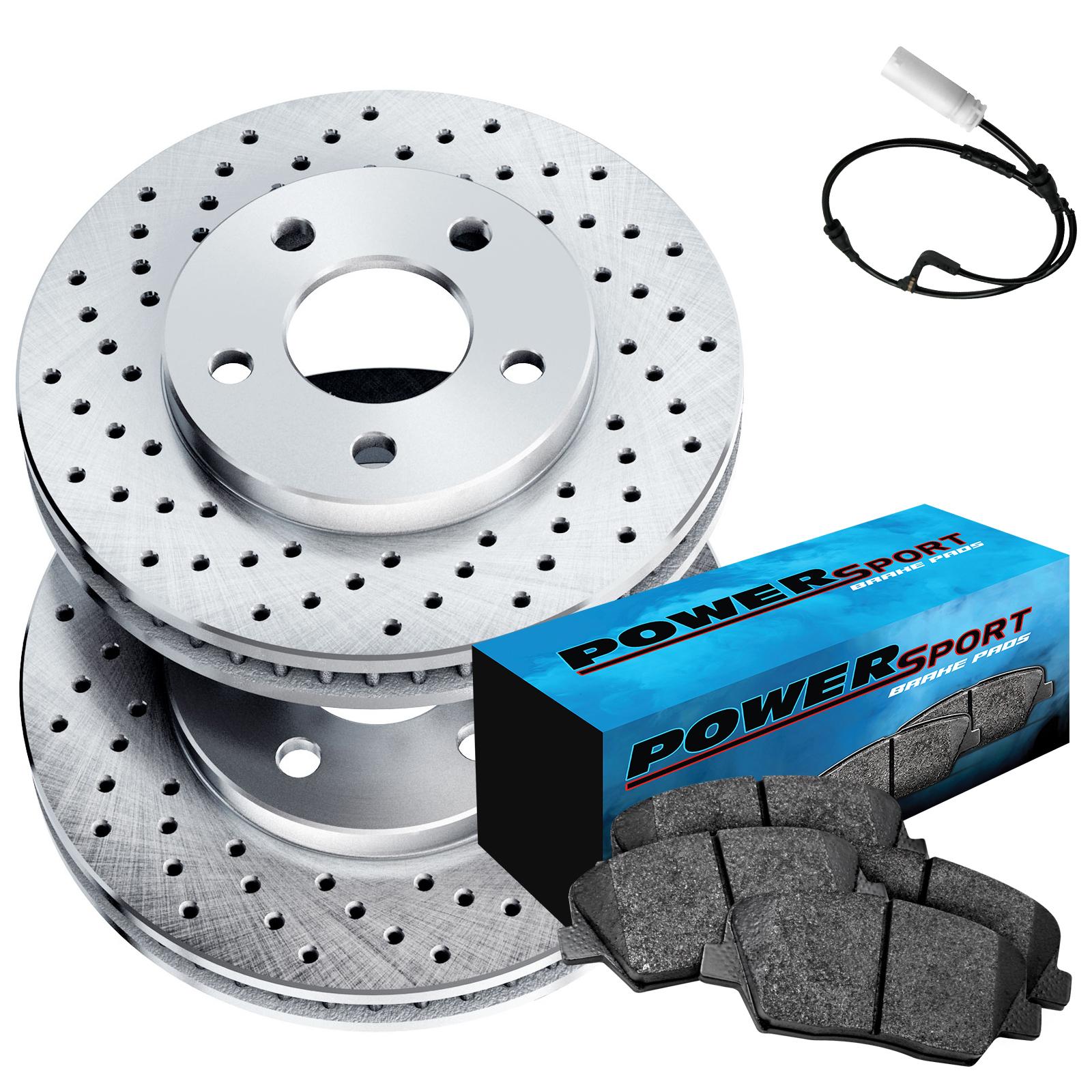 Fit 2007-2009 Chrysler Sebring Front Sport Blank Brake Rotors+Ceramic Brake Pads