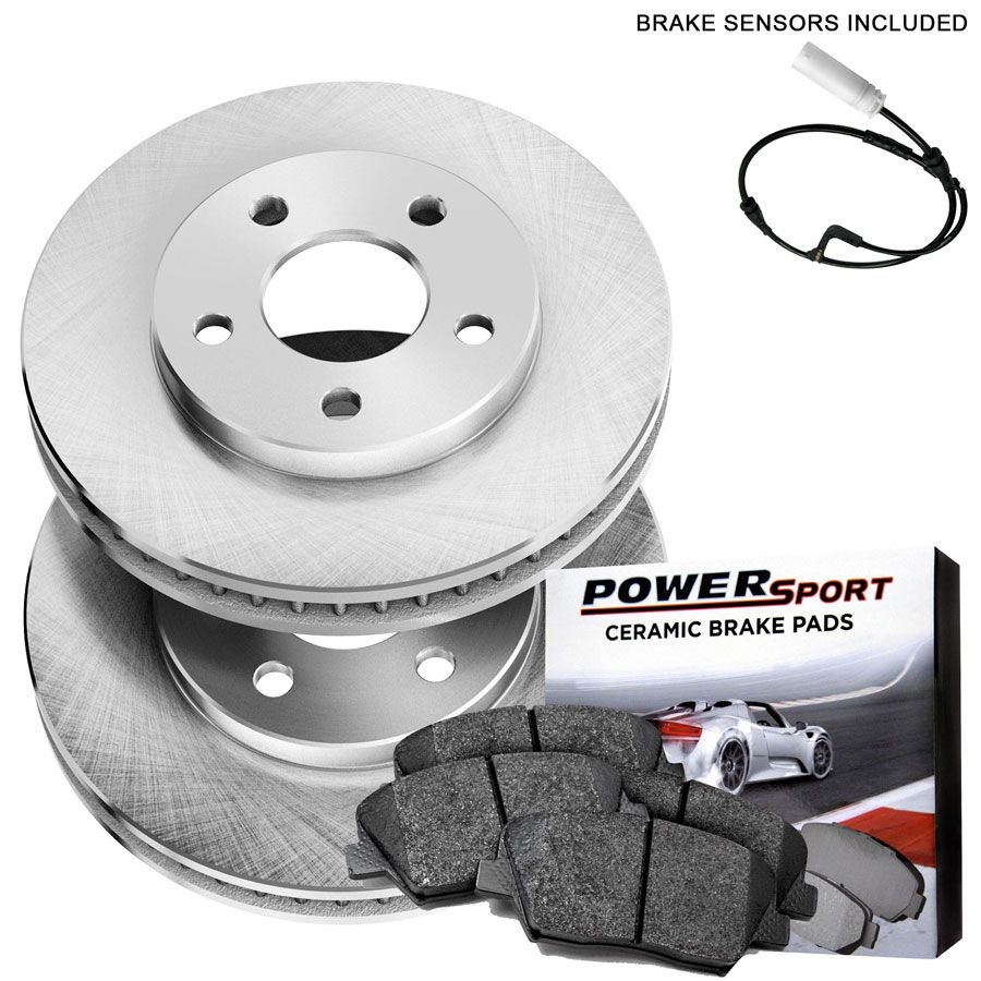 Front Powersport Replacement Brake Rotors And Ceramic Pads