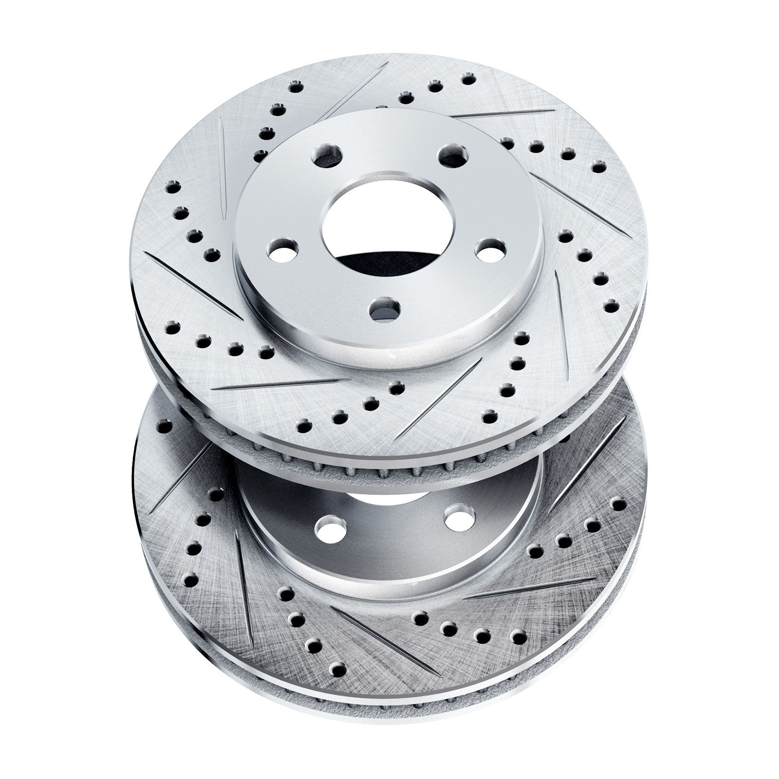 POWERSPORT *DRILLED /& SLOTTED* DISC BJ02053 2 Front Brake Rotors